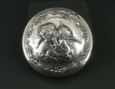 Vintage Wallace Angel Cherub Lady Sterling 925 Silver Powder Jar Dresser Lid