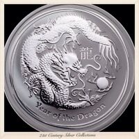 2012 Australia 1 Oz Silver Lunar Series Two Year Of The Dragon