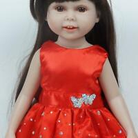 Doll Dress For 18 Inch USA Dolls Red Skirt 18 Inch DECO Clothes Girl Doll S9V6