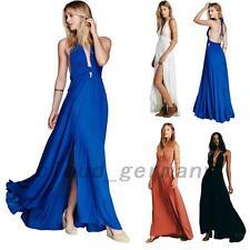 Ärmellos Partykleider Damen Lange Rückenfrei Kleid Maxikleid Mode Abendkleider
