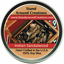 Premium 100% All Natural Soy Wax Candle - 4 oz Tin - Indian Sandalwood