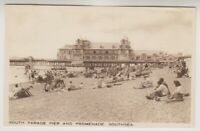 Hampshire postcard - South Parade Pier & Promenade, Southsea - P/U 1950 (A898)