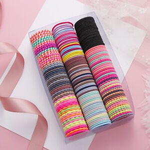50Pcs Cute Girl Hair Ring Elastic Tiny Hair Tie Rubber Band Rope Ponytail Holder
