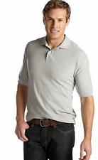 NWT Saddlebred 2XLT Cotton Blend Pique Knit Polo Shirt  Gray $35.msrp
