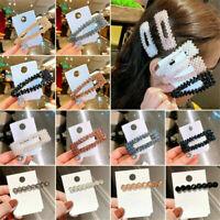 Crystal Bead Hair Clip Hair Band Comb Bobby Pin Barrette Hairpin Headdress F6