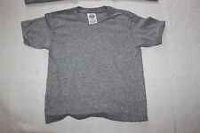 Lot of 30 Children's T Shirts Size 5 - 6  Delta Pro Weight Tees Unisex Grey
