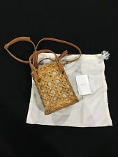 Aranaz Charlie Mini Bucket Bag Natural / Tan