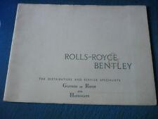 Très joli, PRESTIGE ROLLS ROYCE SILVER CLOUD & BENTLEY S Brochure