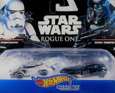 Nib~Star Wars Hot Wheels Character Cars Storm Trouper And Death Trooper