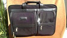 Winn 2712 Black Ballistic Nylon Men's Laptop Briefcase