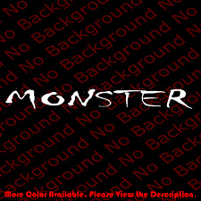 Monster Vinyl Decal Car Window Banner for Truck Off Road 4x4 Accessories Rc121