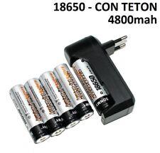 5X PILAS RECARGABLES 4800MAH 18650 3,7V LITIO + CARGADOR DE PILAS PILA CARGAR