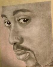 "Tupac Shakur  , Original Art by Michael ""Michalo"" Oliver , Graphite on Paper"