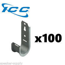"""Icc 100 Pack 1 5/16"""" J-Hook Wall Ceiling Mount Route Network Cable Iccmsjhk33"""