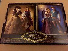 Disney Fairytale Designer Couples Princess Note Card Set Ariel Belle Jasmine NIB