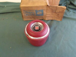 1967 NOS Mercury Comet Cyclone Red Steering Wheel Center Cap & Emblem OEM FoMoCo