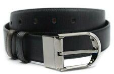 Bally Deming Men's Black & Brown Reversible/Adjustable Grained Calf Leather Belt