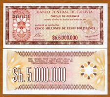 Bolivia, 5,000,000 (5000000) Pesos Bolivanos, 1985, P-193, aUNC