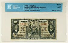 1935 10 Dollars Banque Canadienne Nationale • Letter D • F-12