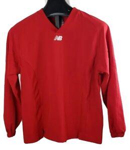 New Balance Red Baseball Pullover long sleeve Shirt Youth Large
