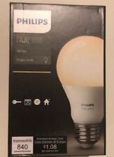 Philips 455295 Hue White A19 Single LED Bulb Works With Amazon Alexa
