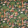Animal Fabric - Baby Raccoon Deer Squirrel Forest Green - Oasis YARD