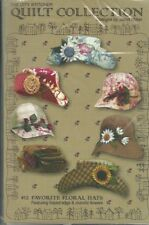 The City Stitcher -Quilt Collection - Favorite Floral Hats 2001 - Uncut Patterns