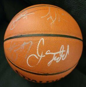 ALLEN IVERSON +KIDD+TMAC DWAYNE WADE SIGNED 2003 TEAM USA NBA BASKETBALL COARARE