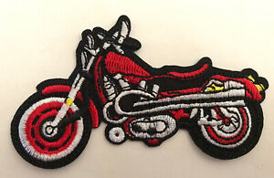 Harley Davidson Red Motorcycle Embroidered Patch -new