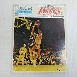 1968 Los Angeles Lakers Vs Detroit Pistons In The Forum Official NBA Program Vtg