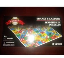 CLASSIC GAMES KIDS SNAKES AND LADDERS FOLDING GAME BOARD  IN BOX 2-4 PLAYERS