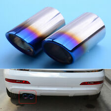 2pcs Grilled Blue Muffler Exhaust Tail Pipe Tip Fit For BMW E90 E92 325i 328i