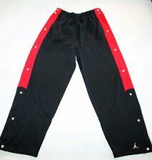 Air Jordan XL Warm Up Snap Leg Jumpman Track Pants Black Red Vintage Break Away