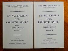 La Austrialia del Espiritu Santo - Celsus Kelly ed. (Hardback, 1966) Vol. I & II