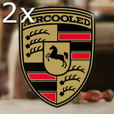2x pieces Aircooled sticker decal vw volkswagen bug bus thing beetle gold 2.5""