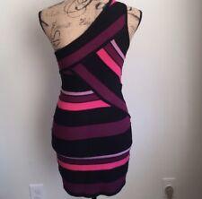 One shoulder multi color dress size L