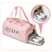 丿 Hot Outdoor Activities Light Weight Sport Travel Pink Duffle Gym Yoga Bag Pink