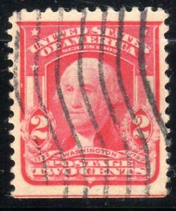SCOTT #319 TWO CENT WASHINGTON-CARMINE, Type I, Used, VF-XF