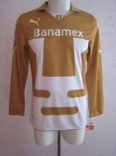 Team Pumas Mens Official Soccer Jersey Puma Size L White/Gold 2014 Long Sleeve