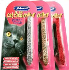 """Cat FLEA Collar /""""Sparkling Glitter/"""" JOHNSON With Option for ENGRAVED PET ID TAG"""