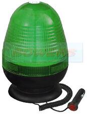 12V 24V MAGNETIC MOUNT LED ROTATING FLASHING GREEN SEAT BELT WARNING BEACON