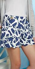 NEW Women's Size XS SHORTS By Mud Pie NAUTICAL Navy Anchor, Cruise Gift