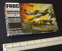 Hawker Hurricane RAF Fighter WW2. 1:72 Vintage 1960s Frog Kit. Black Boxed.