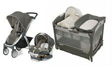Chicco Bravo Trio Baby Stroller with Car Seat Travel System Playard Infant Crib