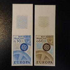 FRANCIA EUROPA Nº1521/1522 SELLO NO DENTADO IMPERF 1967 NEUF MNH