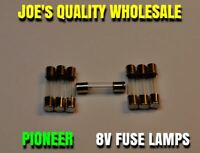 (7)8v-200mA FUSE TYPE Pioneer QX & SX MODELS /DIAL METER LAMPS/ LIGHTS