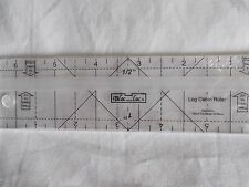 "Bloc Loc Log Cabin 1/2"" x 1"" -6"" long  Acrylic Ruler"