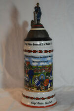 Collectible Vintage German Regimental Military Lithophane Stein, No Box