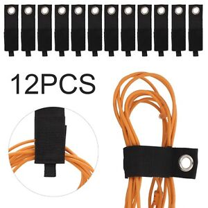 12X Heavy Duty Storage Straps Extension Cord Holders With Garage Hook Organizer