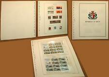 MALTA REPUBBLICA FRANCOBOLLI NUOVI MNH** da 1975 al 1979 SU FOGLI MARINI REGALO